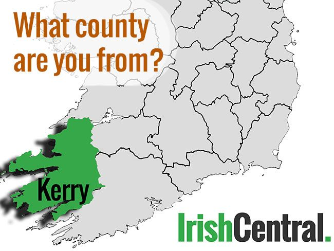 Map Of Ireland Kerry Region.What S Your Irish County County Kerry Irishcentral Com