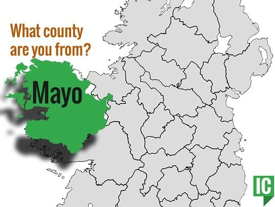 Plain Map Of Ireland.All The Basics And Some Fun Facts About County Mayo Irishcentral Com