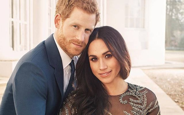 Prince Harry and Meghan Markle\'s official engage photos.