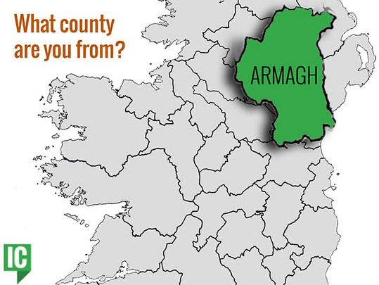 County Armagh Ireland Map.What S Your Irish County County Armagh Irishcentral Com