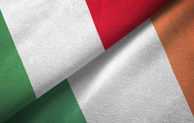 Irish and Italians share more than similar flags!...such as, we LOVE pizza!