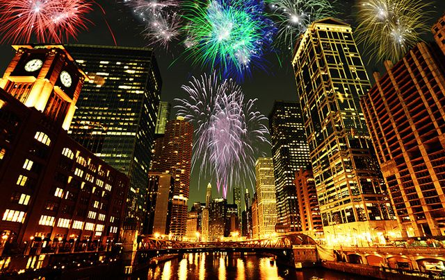 Fireworks over Chicago: Realizing July 4th was Patrick's Day on steroids and feeling at home in the United States.