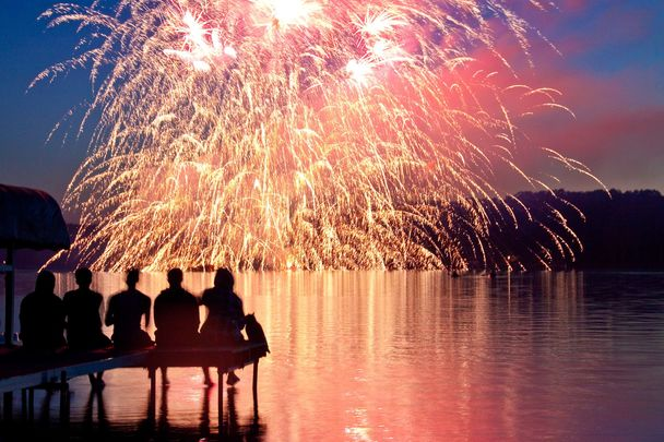 Fireworks over Chicago: Realizing July 4th was Patrick\'s Day on steroids and feeling at home in the United States.