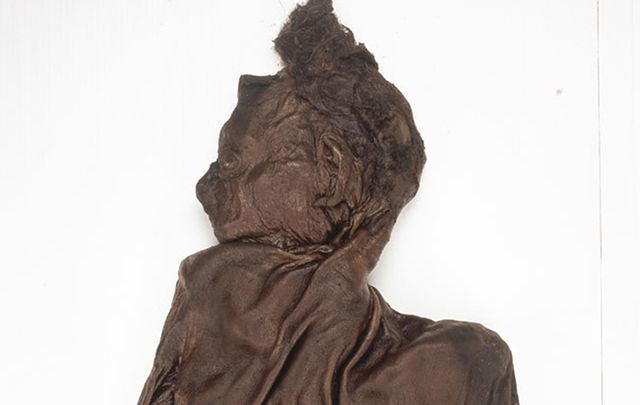 Clonycavan Bog Man is one of several Iron Age bog-preserved bodies on display at the National Museum of Ireland.