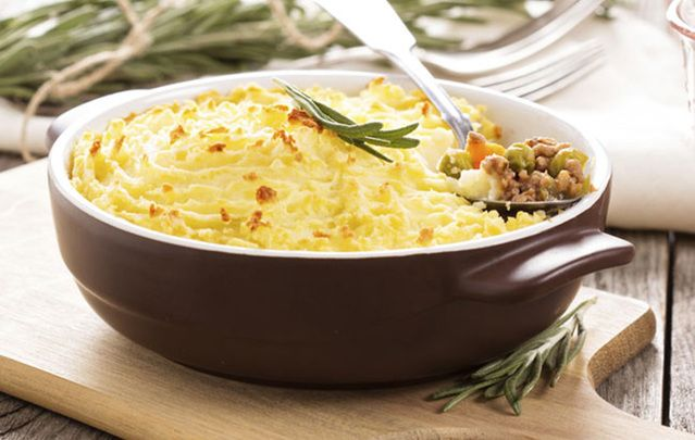 Shepherd's pie is delicious and easy to make.