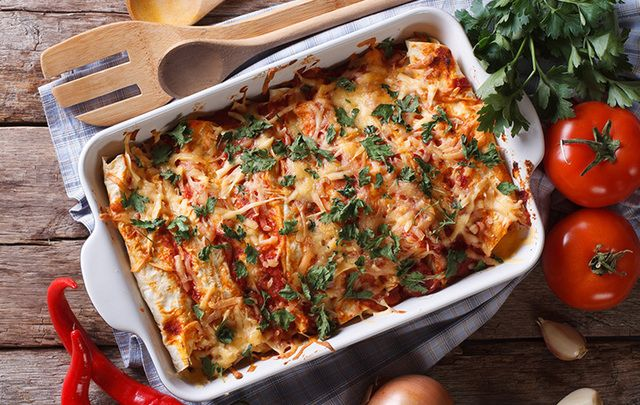 Turkey Enchilada - a great way to use up all that left-over Thanksgiving turkey.