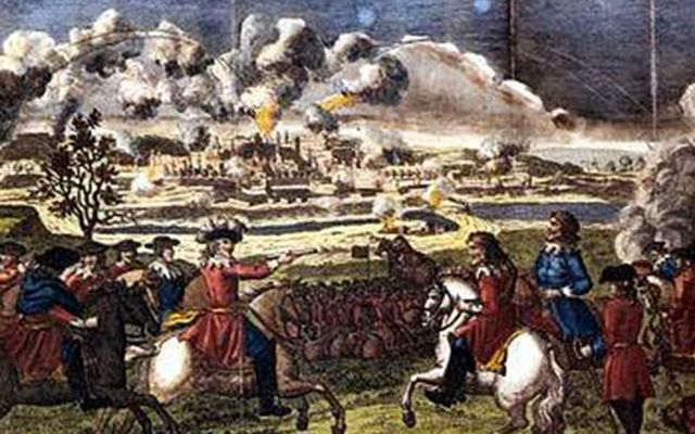 Cromwell\'s Forces commence their bombardment of Drogheda.