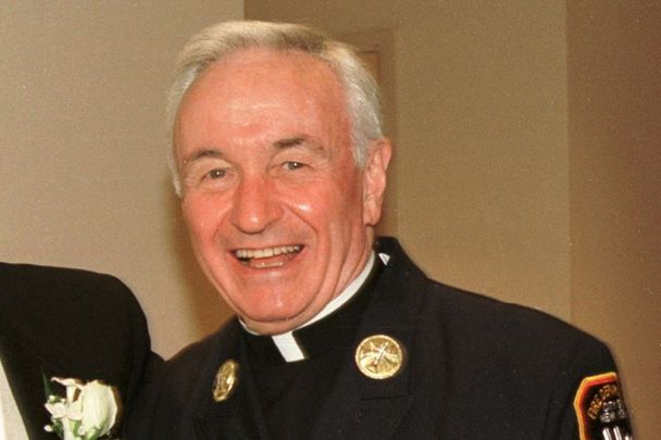 """New York Fire Department chaplain Father Mychal Judge. One of his men said \""""I think he knew that God had taken him for a reason. He was there for everybody else."""""""