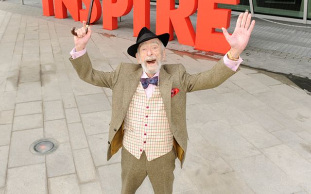 Irish acting legend David Kelly, star of Charlie and the Chocolate Factory and Strumpet City.