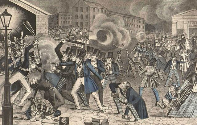 Home of this week's DNC, back in 1844 Philadelphia hosted one of the biggest ever anti Irish Catholic riots.