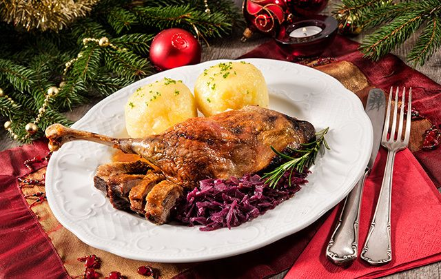 How about a roast Christmas goose this year?