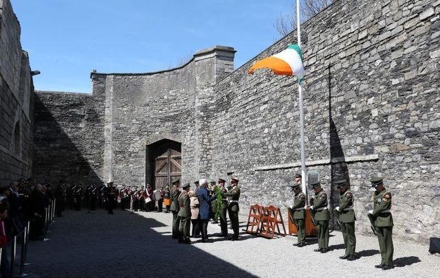 May 4, 2016: The State Commemorates the Centenary of the Executions of the Leaders of the 1916 Rising at the Stonebreakers Yard, Kilmainham Gaol.