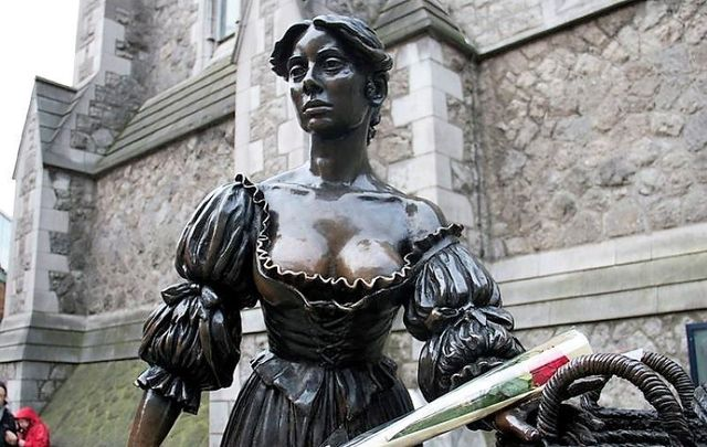Dublin\'s most famous lady 'Molly Malone' was invented to ridicule the Irish, says a leading historian.