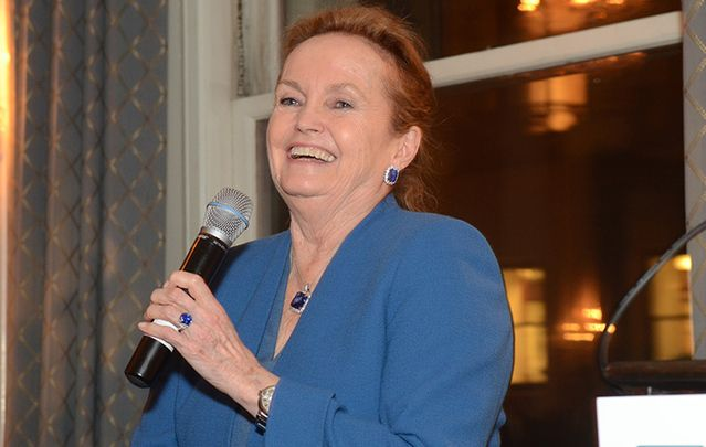 Philanthropist and former chairman of the American Ireland Fund, Loretta Brennan Glucksman, honored in Donegal.