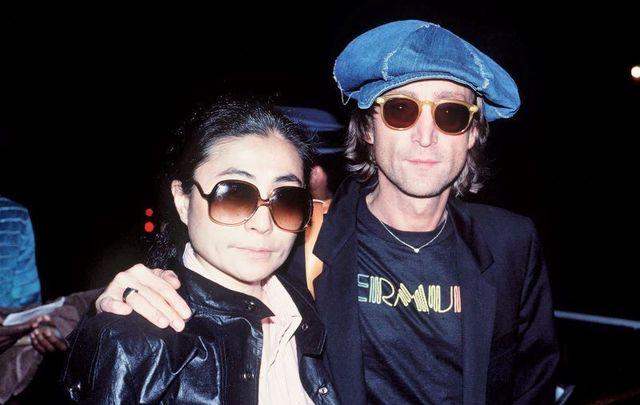 John Lennon and Yoko Ono not long before The Beatles legend was tragically killed.