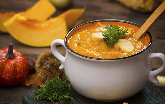 All the delicious flavors of fall and Thanksgiving in this hearty soup.