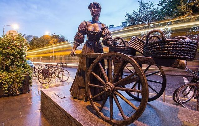 Molly Malone, Bronze statue in Dublin City.