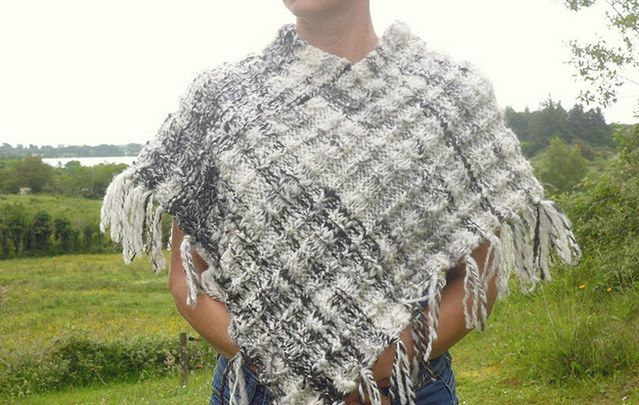 If you know where to look, Etsy is full of authentic treasures from Ireland - like this hand-knit poncho from Rebecca's Wool in Co. Mayo.