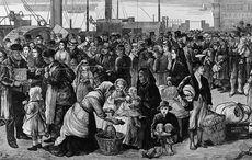 Irish Famine ships arrive at Grosse Île quarantine station in 1847