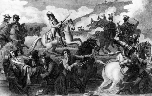 """The Battle of the Boyne: Catholic Jacobite captain\'s account reveals more than 1,000 Irish Catholic troops were \""""dead drunk\"""" on July 12 1690."""