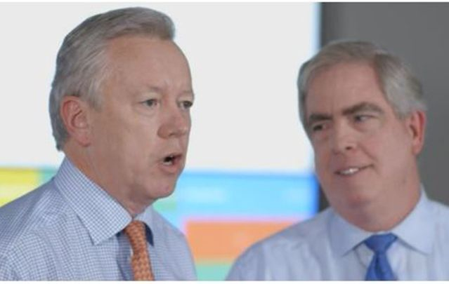 John Saunders (left) to Succeed Dave Senay as FleishmanHillard CEO.