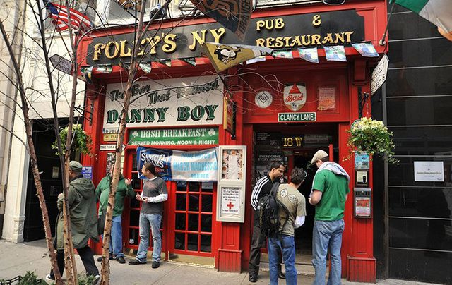 Foley's New York Bar and Restaurant, in midtown Manhattan, where they hate Danny Boy, one of the most popular Irish songs in the world.