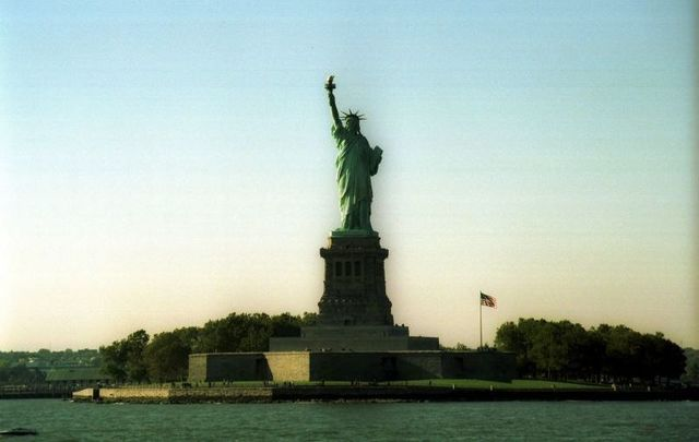 Statue of Liberty in the New York harbour - just as welcoming as it was the time it was seen by millions of Irish immigrants arriving to the US.