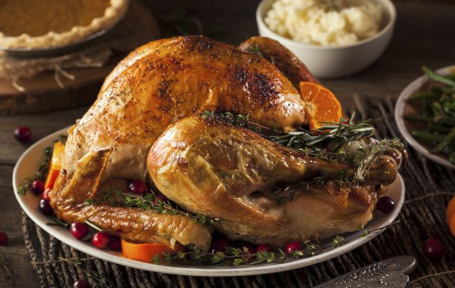 Chef Gilligan\'s roast turkey with sage and onion stuffing