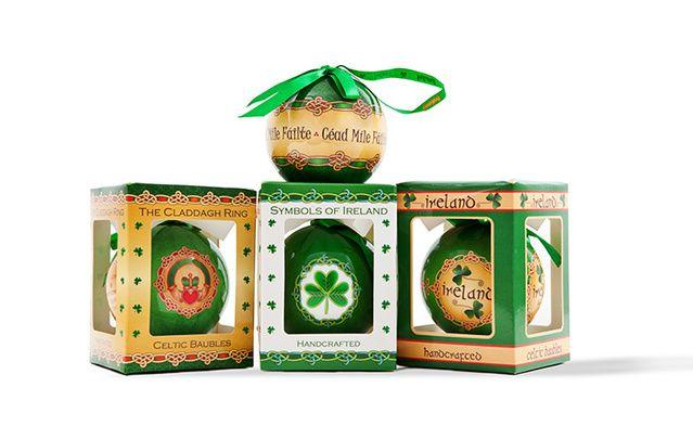 Irish Christmas bauble set.