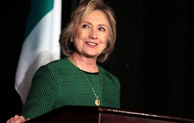 Will Hillary Clinton push for comprehensive immigration reform? Image: Hillary Clinton at the Irish America Hall of Fame.