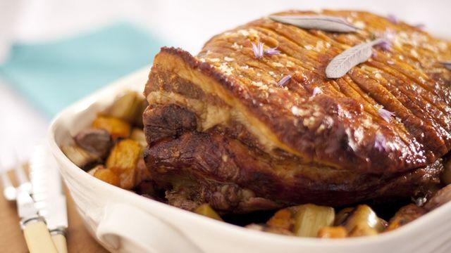 Rachel Allen\'s roast shoulder of pork.