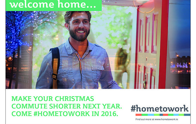 #HomeToWork posters aim to highlight opportunities in Ireland for the diaspora.