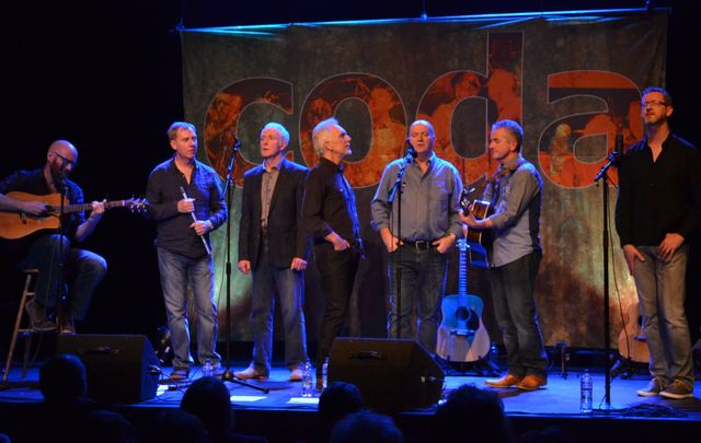 Westport-based male singing group Coda wow with their seven-part harmonies.