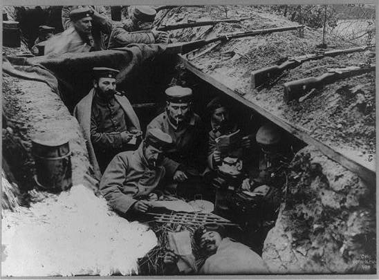 ""\""""Christmas in the Trenches 1915"""": Flushed with joy having contributed to the tide of peace and goodwill that washes around during this special time.""548|405|?|en|2|4245c5aaec9218fc5964139a8e70d6e8|False|UNLIKELY|0.29801076650619507