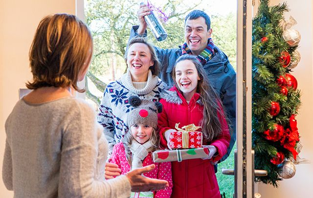Visiting friends, family, and neighbors is still a big tradition in Ireland on New Year\'s Day.