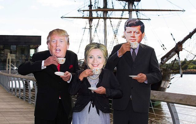 Taking the locals by surprise in New Ross town were 'President John F. Kennedy', 'Donald Trump' and 'Hilary Clinton'. The famous trio were on hand to help launch the annual Kennedy Summer School.