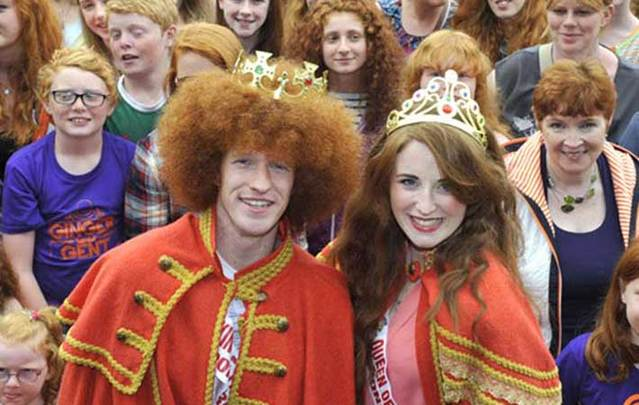 Gráinne Keenan Alan Reidy were named king and queen of all things ginger at the 2015 Redhead Convention in Cork.