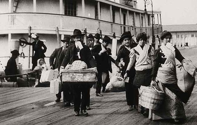 "Emigrants landing at Ellis Island, New York: The 19th century Irish wouldn't gotten through Donald Trump's ""extreme vetting."