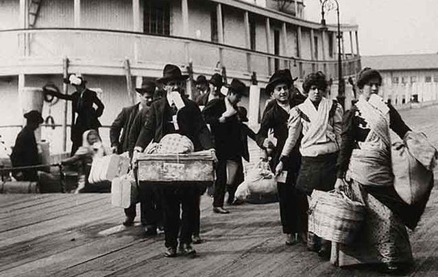 "Emigrants landing at Ellis Island, New York: The 19th century Irish wouldn't gotten through Donald Trump's ""extreme vetting."