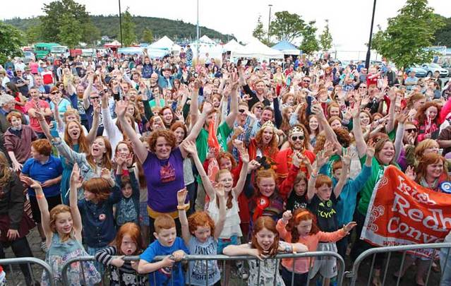 Group photo at the Irish Red Head Convention in Crosshaven, Co. Cork.