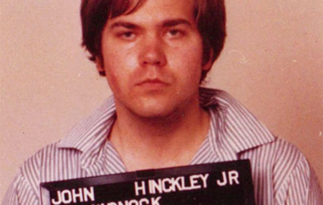 Mugshot taken by the FBI of John Hinckley shortly after he attempted to assassinate President Reagan.