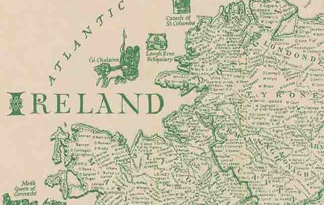 Map Of Ireland In Irish.Down Survey Ireland Maps Reveal What Oliver Cromwell Stole