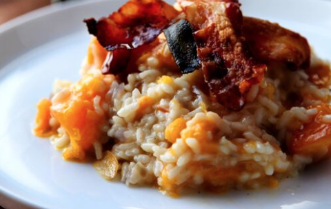 Check out Irish chef Donal Skehan\'s pumpkin and pancetta risotto recipe for Thanksgiving.