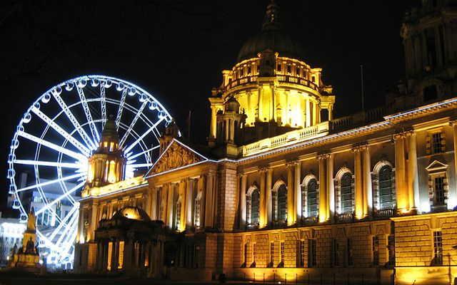 The beautiful city of Belfast by night