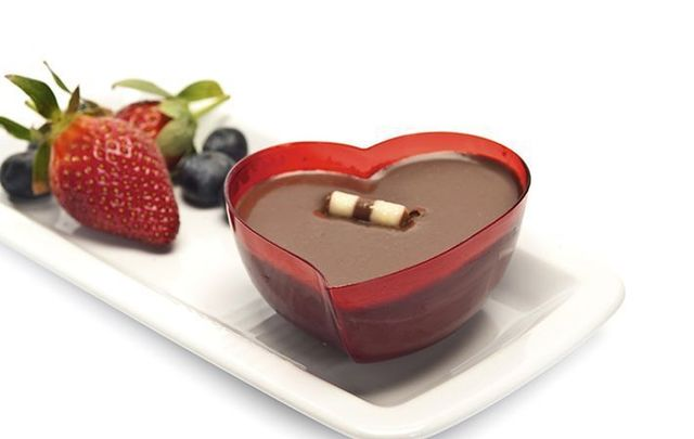 Valentine\'s Day chocolate mousse.