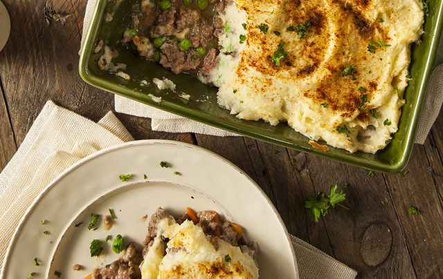 Delicious and comforting Shepherd\'s Pie. Perfect for a cold March or any chilly evening.