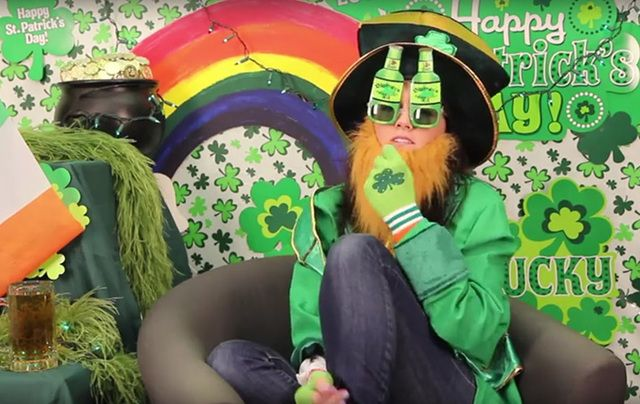 A Kristen Stewart lookalike has put together a satirical historical guide to St. Patrick's Day.