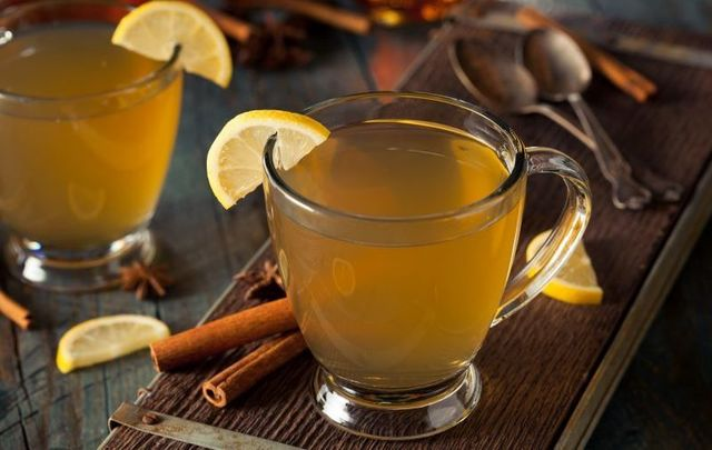 Warm Irish whiskey punch is the perfect welcome home for Thanksgiving.