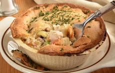 Thanksgiving leftovers recipe for hearty turkey pot-pie