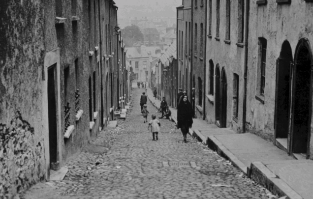 "A ""typical street in Cork\"", published in c 1927."